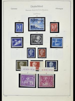 Stamp collection 34196 DDR 1949-1969.