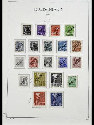 Stamp collection 34197 Berlin 1948-1990.
