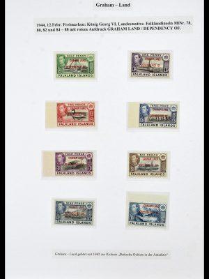 Stamp collection 34222 Falkland Dependencies 1891-1987.