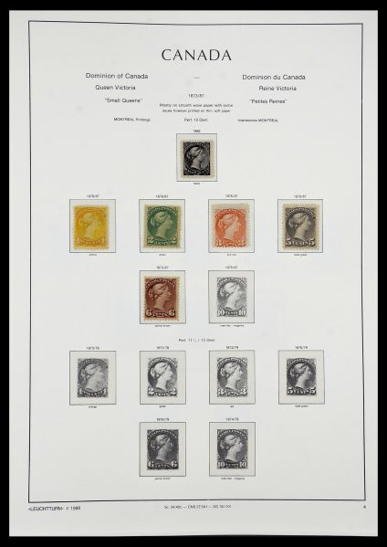 Stamp collection 34228 Canada 1882-2011.