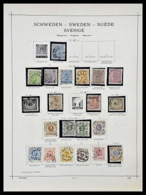 Featured image of Stamp Collection 34299 Sweden 1855-1935.