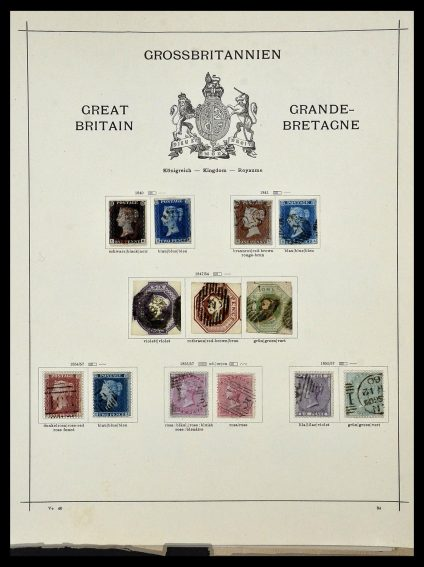 Featured image of Stamp Collection 34360 Great Britain 1840-1934.