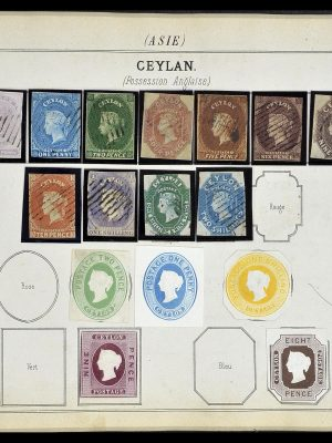 Featured image of Stamp Collection 34370 Ceylon 1855-1858.